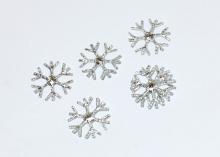 Патч Снежинка 2,3 см Серебро