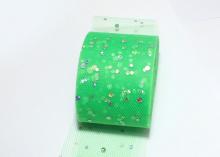 Фатин с блестками голограмма, 5 см, Зеленый