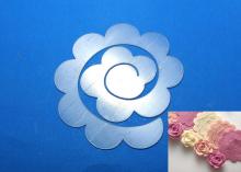 Шаблон для скрутки цветка, 2 детали - 9 см и 12,5 см. ПЭТ 0,7