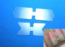 Шаблоны для бантиков Прямоугольные на 8 см и 10,5 см. 4 детали. ПЭТ 0,7