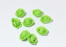 Роза из фоамирана 2,5 см. Зеленая