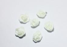 Роза из фоамирана 2,5 см. Белая