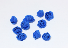Роза из фоамирана 2,5 см. Синяя
