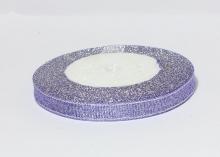 Парча сиреневая серебро, 1 см