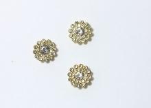 Кабошон Флоризель пришивной, Прозрачный золото, 14 мм