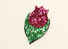 Набор для патча Тюльпан Ярко-розовый, 50х30 мм