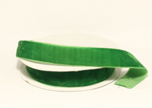 Лента бархатная Зеленая-Д60, 25 мм