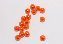 Бусины пластиковые оранжевые 10 мм (20шт)