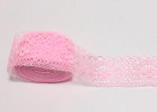 Кружево Цветок, 35 мм, Светло-розовое
