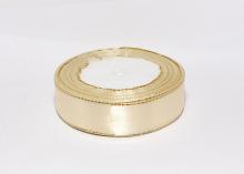 Атласная лента с люрексом, светло-бежевый золото 04, 25 мм