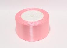 Атласная лента 5 см, Розовая-089