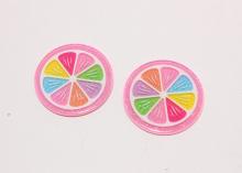 Кабошон Дольки разноцветные, 40 мм