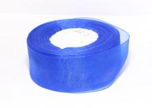 Органза Синяя, 4 см