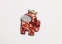 Патч для самостоятельной склейке Амонг красный , 4 см