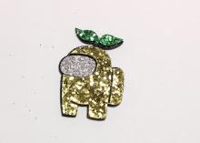 Патч для самостоятельной склейке Амонг золото, 4 см