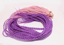 Африканские косички поштучно Розово-фиолетовые, 1 шт