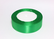 Лента атласная 25 мм, зеленая № 19