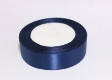 Лента атласная 25 мм, Темно-синяя № 38