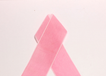 Лента бархатная, 4 см, Розовая-36