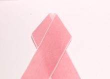 Лента бархатная, 4 см, Розовая-09