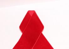Лента бархатная, 4 см, Красная