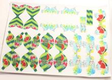 Кожа шаблоны для бантиков Арбузы Цветы