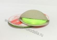 Лента атласная, 6 мм. ярко-салатовая В-100 (боб. 27м)