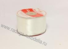 Атласная лента 5 см, молочная В-002/042Б