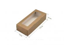 Коробка Крафт (внутри белая ламинация), 165х70х40 мм