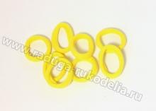 Резинка бесшовная 3 см, желтая 16