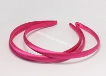 Ободок пластик+ткань, ярко-розовый, 1 см