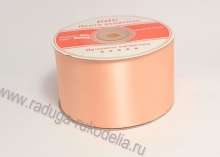 Атласная лента 5 см, персик Uc-056