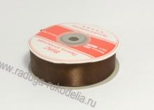 Лента атласная 25 мм, коричневая В-140