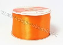 Атласная лента 5 см, оранжевая-В054