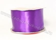 Атласная лента 5 см, фиолетовая-В085