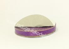 Парча фиолетовая с люрексом, 12 мм