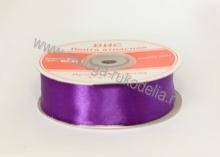Лента атласная 25 мм, фиолетовая-В-084