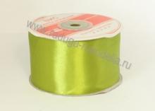 Атласная лента 5 см, оливковая В-151