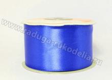 Атласная лента 5 см, синяя-Д122