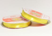 Лента атласная 12 мм, желтая-023