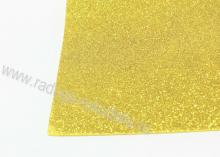 Фоамиран глиттерный, Светлое золото. 20х30 см