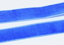 Лента бархатная синяя-69, 25 мм