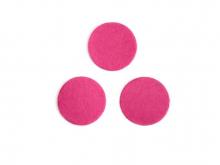 Фетровые кружочки (цвет фуксия) 30 мм