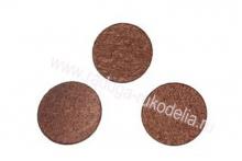 Фетровые кружочки (цвет шоколад). 30 мм, уп. ок. 50 шт