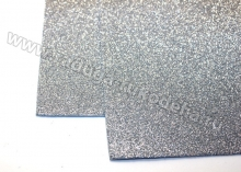 Фоамиран глиттерный, серебро. 20х30 см