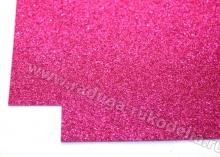Фоамиран глиттерный, ярко-розовый. 20х30 см