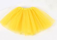 Юбка из фатина 2-слойная. Желтая