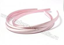 Ободок пластик+ткань, розовый, 1 см
