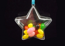 Звезда прозрачная для декора, 8 см