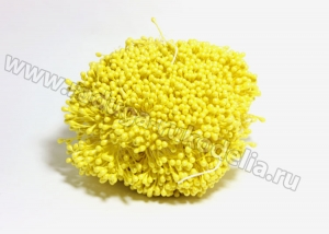 Тычинки гладкие, 3 мм, желтые 1 пучок (100 нитей +- 2)